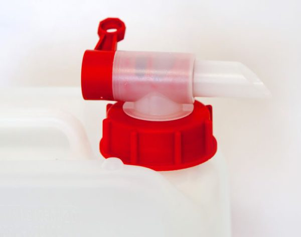 Re-useable tap attachment for safe and convenient refill of hand sanitiser dispensers